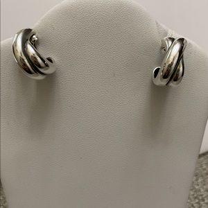 Retired James Avery Crisscross Design Earrings